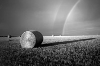 ROUND BALES AND RAINBOW
